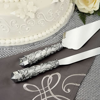 Wedding Cake Knife and Serving Set